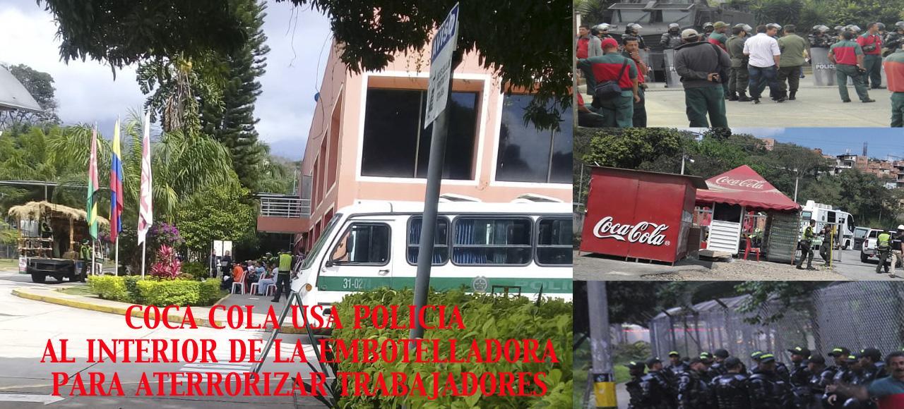 Coca Cola Militariza Relaciones Laborales | imagen | SINALTRAINAL : : Sindicato Nacional de Trabajadores del Sistema Agroalimentario